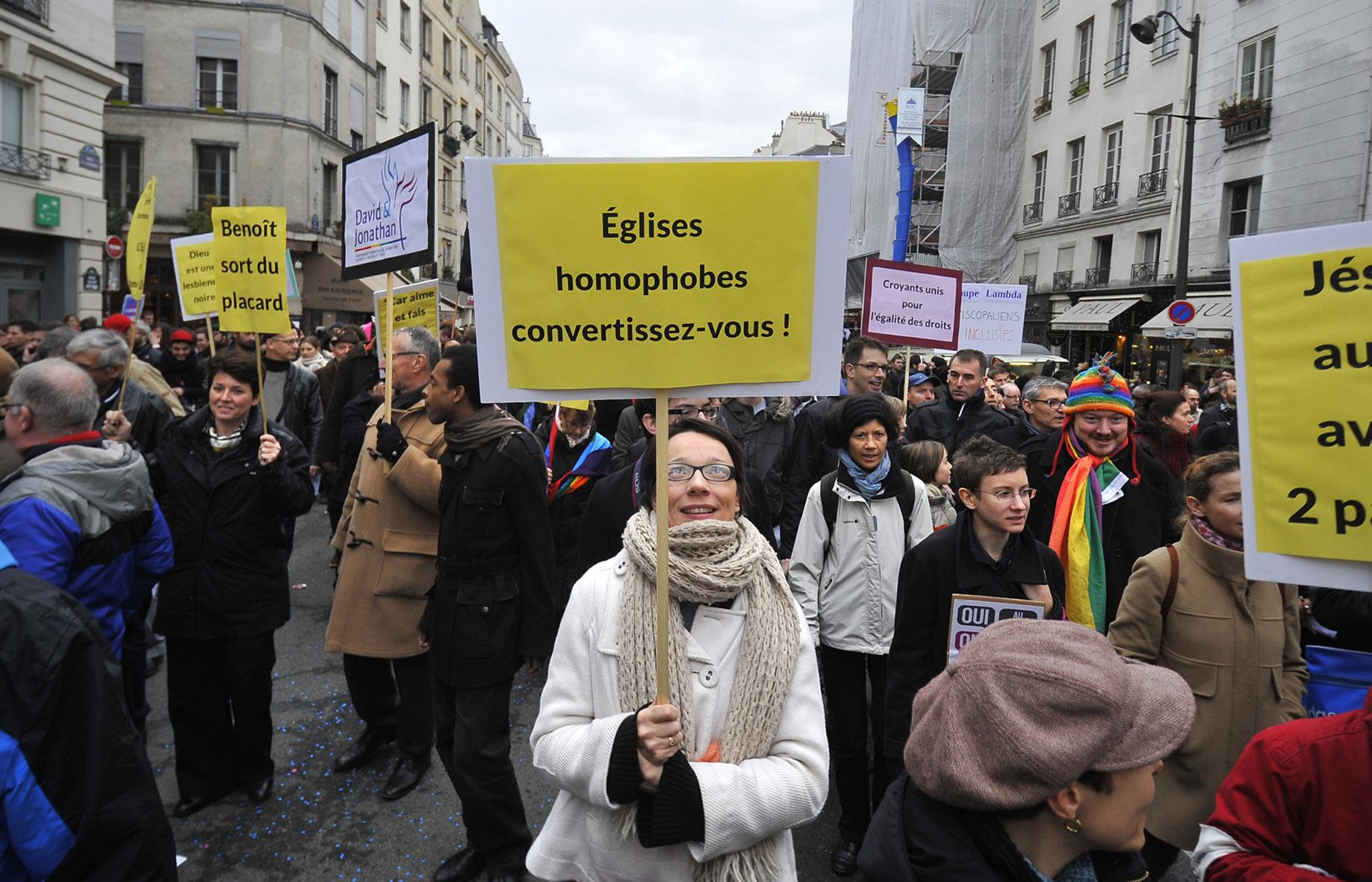 Manifestation Mariage pour Tous