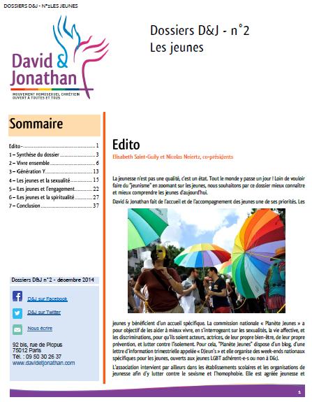 Dossiers D&J - les jeunes - couverture
